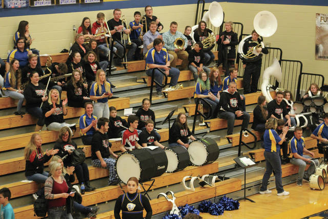 The Clay and Oak Hill bands perform together in Rosemount.