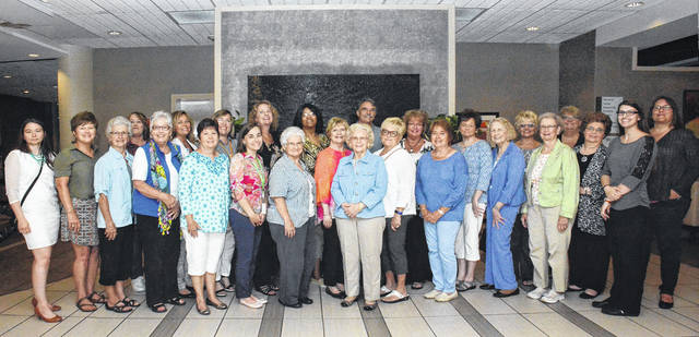 Portsmouth Area Ladies (PALS) assemble at Oscar's Restaurant for their membership meeting. Far right, Shania Logan (one of FBP's past interns) and Deneen Revel-FBP Public Affairs