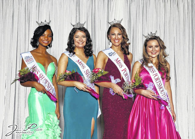 (L-R) Miss Shawnee's Outstanding Teen - Evyn Mills, Miss Shawnee - Maribeth Tagg, Miss Portsmouth - Rachel Gombosh, and Miss Portsmouth's Outstanding Teen - Madison DeFrank.