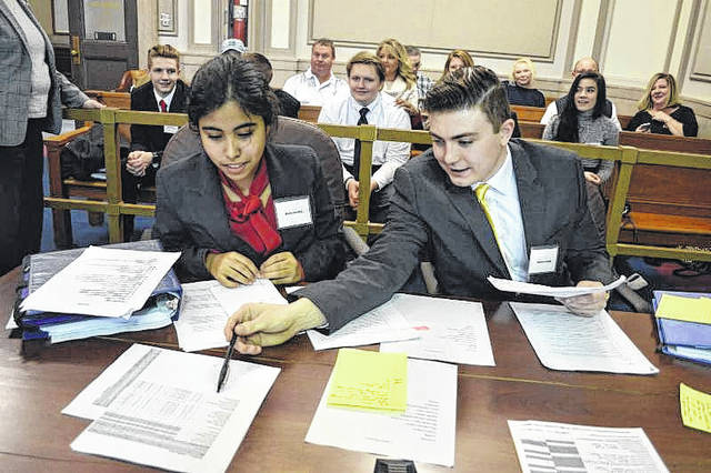 Twelve teams from eight local schools will compete in the Scioto County District Mock Trial Competition, Jan. 26. More than 3,000 students will participate across the state.