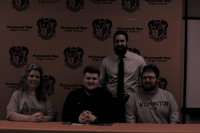 West's Caleb Deaver signed with Wilmington College to play football on Friday afternoon at West. The senior was a consistent presence on a Senators' offensive line that obtained 3,631 yards of total offense in 2017 on its way to a 10-2 overall record.