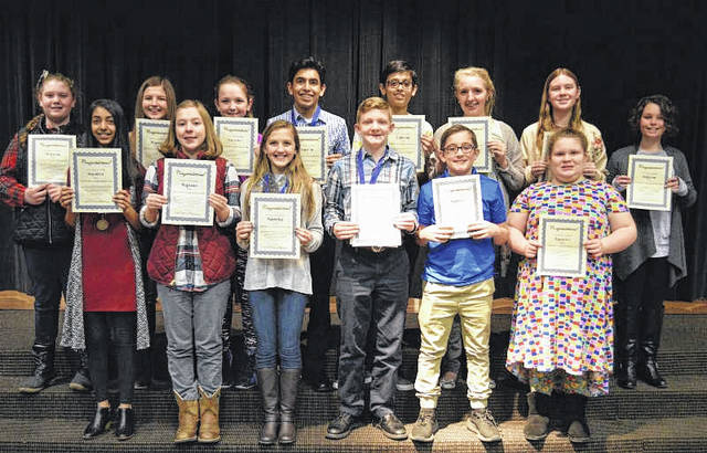 2018 Superior Rating Award Winners - Front Row (L to R) Serena Kataria, Rachel Davenport, Haleigh Collier, Andrew Brown, Ethan Swick, and Nicole Hughes. Back Row (L to R) Hannah Stockham, Carly Thoroghman, Brianne Hicks, Rohit Kataria, Dev Patel, Nicole McClung, Marissa Trowbridge, and Jadelyn Lawson.