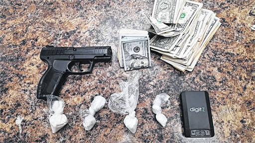 Officers recovered narcotics, cash, and a BB handgun.