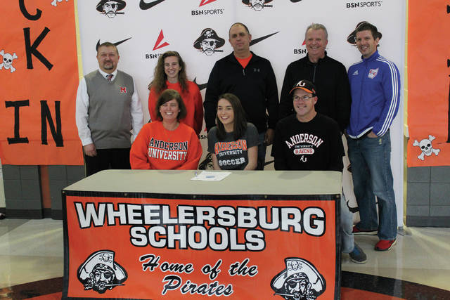 Wheelersburg's Lyndlee Willis signed with Anderson (Ind.) University on Friday afternoon in a signing ceremony that was held at Wheelersburg High School. Willis is a standout runner in addition to her soccer exploits.