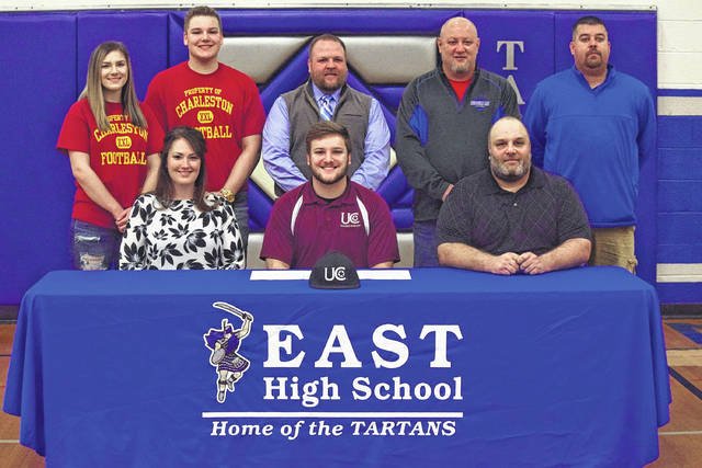 East's Ethan Gifford signed with the University of Charleston on Wednesday afternoon to play college football for the Golden Eagles. Gifford is expected to play linebacker but is open to be moved to fill team/positional needs.