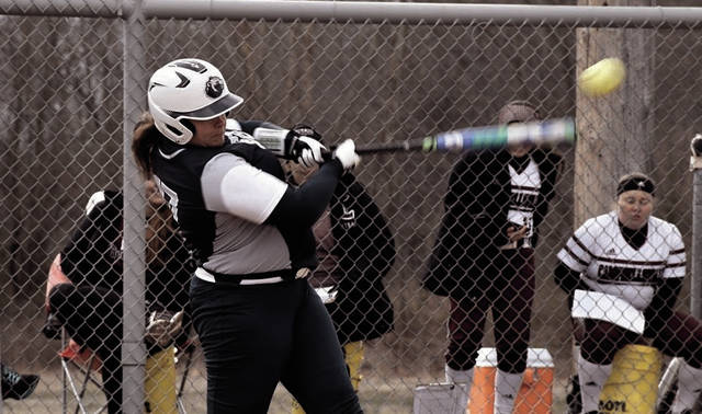 Shawnee State's Marisa Brown swings at a pitch during a Mid-South Conference contest last spring.