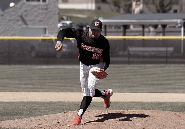 Rio Grande's Osvaldo Duran throws a pitch last Friday against West Virginia Tech.