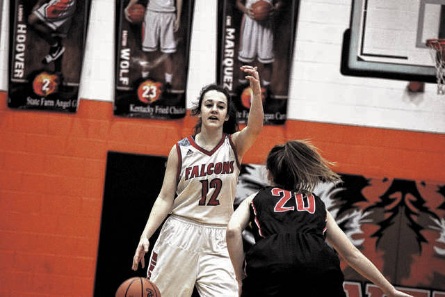 Minford's Caitlyn Puckett has been an energy bug all season long for the Lady Falcons.