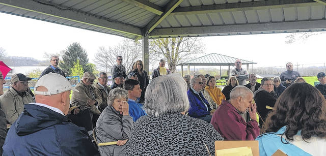 The people who attended the 1968 Wheelersburg Tornado Memorial dedication