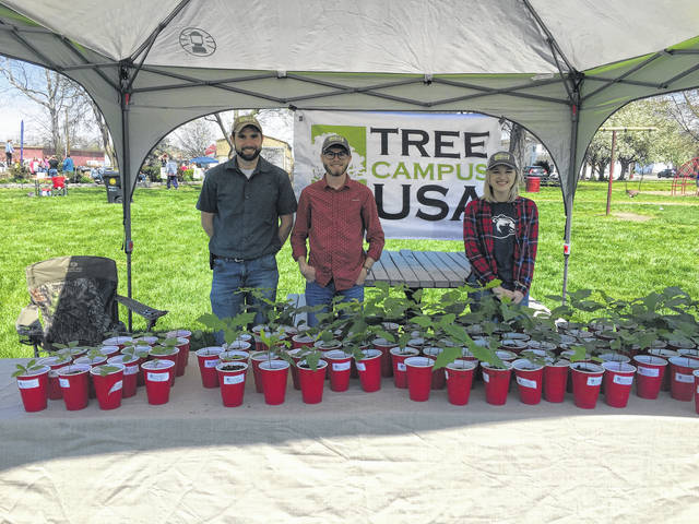 Representatives from Tree Campus USA had a booth set up at Saturday's event.
