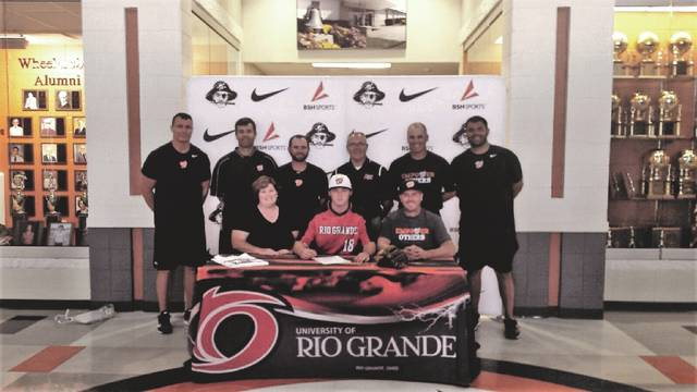 Wheelersburg's Cole Dyer signed to play with the Rio Grande University baseball program last Friday.
