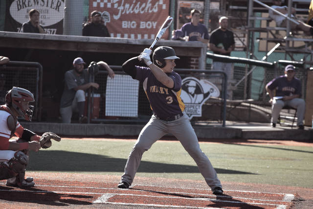 Valley's Jesse Jones stands in at the plate.