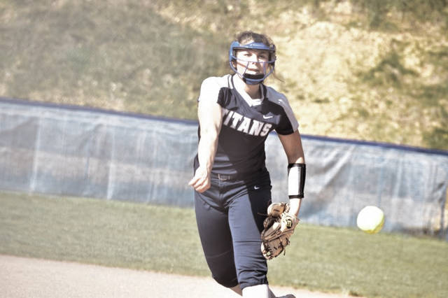 Notre Dame's Cassie Schaefer throws a pitch on Monday evening against Clay.