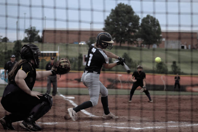 Molly Hoover swings at a pitch in the second inning.