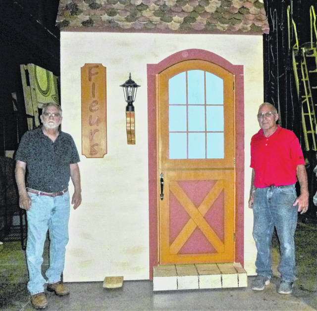 Gary Tieman (left) And Ed Ingles In Front Of The Flower Shop They Made That  Was Used In U201cBeauty And The Beast.u201d