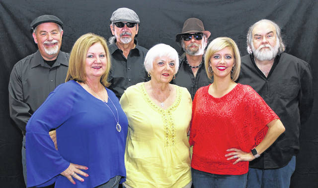 Yesteryear is comprised of (front, from left) Lisa Thompson, Sandra Byrd-Chapman and Shannon Drown; and (back) Ben Clark, Mike Adkins, Rick Adkins and Ed Layman.