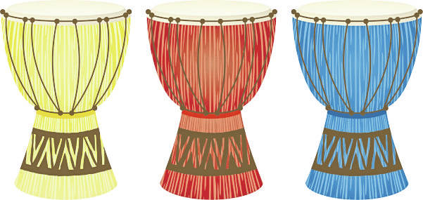 traditional African tribal drums
