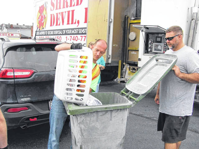Last year, 5,000 pounds of documents were shredded.