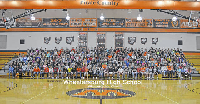Wheelersburg High School 2018 student body