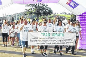 Team DD Faith at one of the Relays for Life