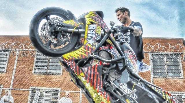Ride-4-Life is a motorcycle stunt group led by a former addict which performs at Hope Over Heroin events.