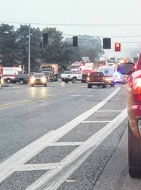Ohio State Highway Patrol, Valley Township VFD and EMS, Portsmouth Ambulance, and Ohio Department of Transportation were on the scene of the accident.