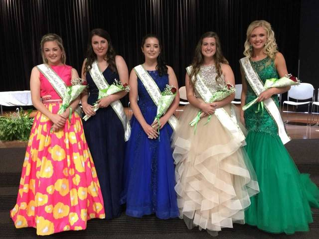 Scioto County Junior Fair Queen's Court: (L to R) Emma Lauder, Paige Howard, Katelyn Rigsby McKinley Flinders, and Alyssa Dingus