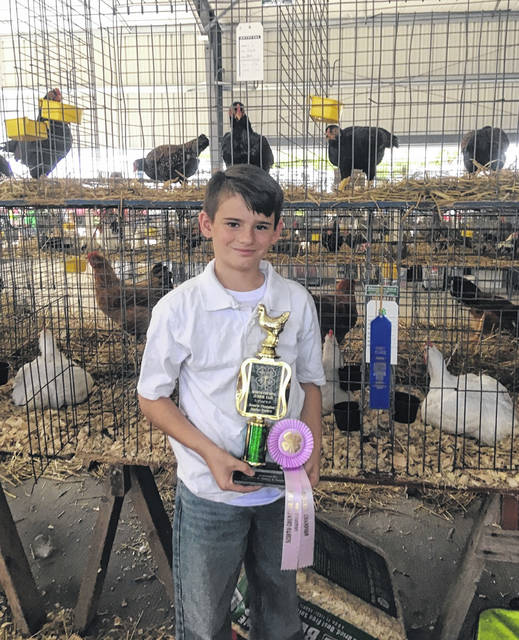 Billy Miller won the Reserve Champion Market Chicken