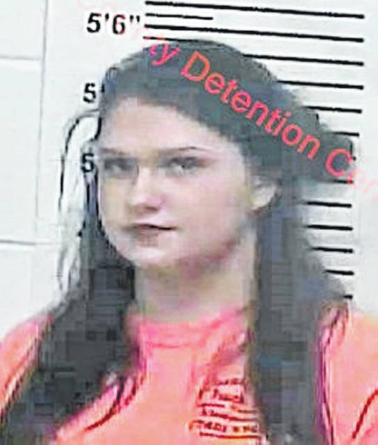 Dummitt's mugshot taken at her booking into the Lewis County Detention Center.