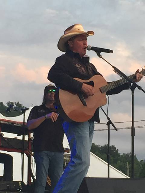 Country Music Recording Artist Tracy Lawrence performs before a capacity crowd Friday night at the Scioto County Fair.