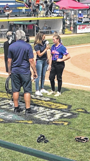 Wheelersburg pitcher AndiJo Howard was interviewed on ESPN following her outstanding performance on the mound for her team.
