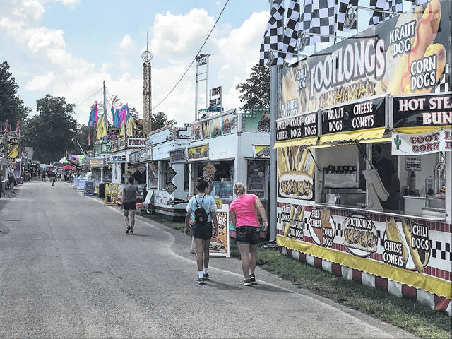 Perhaps indicitve of tumbling attendance, there were no long lines outside any of the concession booths at the county fair mid-day Thursday.