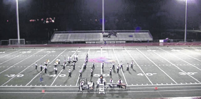 The Wheelersburg High School marching band at a comptition in 2015.