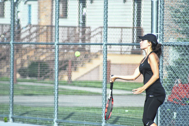 Wheelersburg's Lea Wright won the SOC singles title, along with her third straight POY honors.