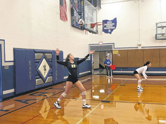 The Notre Dame Lady Titans defeated the East Lady Tartans 3-0 Thursday night in an SOC I matchup in Sciotoville
