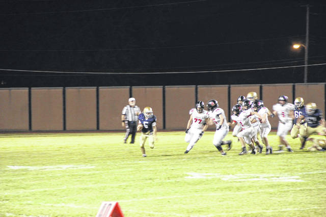 The Notre Dame Titans fell in their home opener to Bishop Rosecrans, 35-26 at Spartan Stadium.