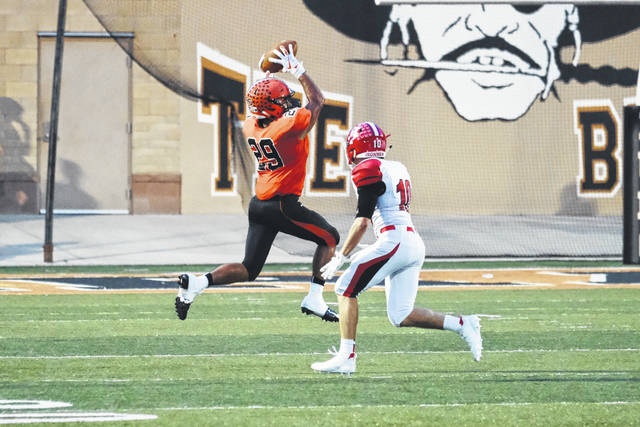 Makya Matthews found the end zone twice for the Pirates in their game Friday night against Jackson.