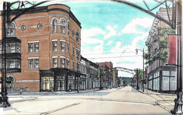 Local graphics artist Gina Chavat created these renderings of improvements planned for downtown Portsmouth.