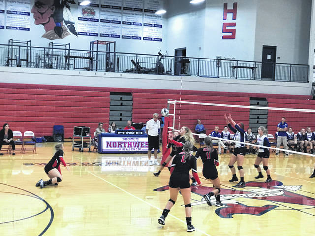 The South Webster Jeeps took a road victory against the Northwest Mohawks Tuesday night in straight sets.