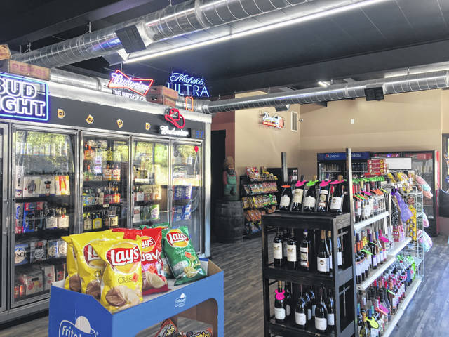 The location sells wine, beer, and various spirits along with other convenience items.