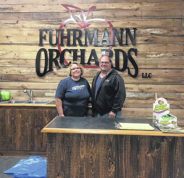 Leanne and Paul Fuhrmann, owners of Fuhrmann's orchard