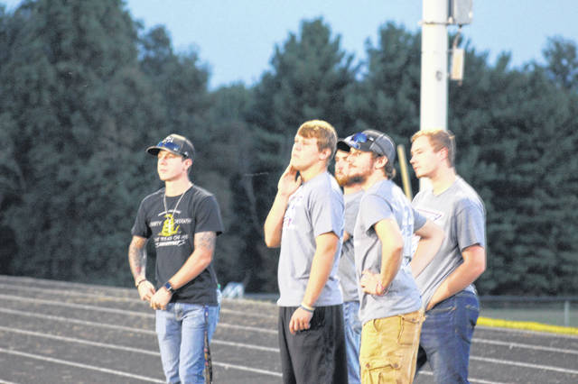 Members of last season's SOC championship Northwest team were in attendance at Roy Rogers field to support their former teammates against Wheelersburg.