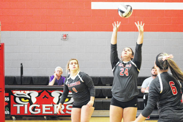 Setter Sammy Oiler led the Glenwood Tigers with a team high 24 assists in their victory over Ironton St. Joes Wednesday night.