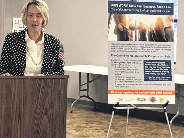 Vice-president of the Portsmouth Area Chamber of Commerce, Kara Tieman encouraged local employers to take advantage of the state's initiative which officially launched Tuesday.