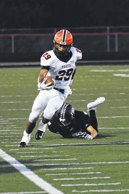 Wheelersburg playmaker Makya Matthews leads the Pirates in receiving yards and is third on the team in rushing yards so far in 2018.
