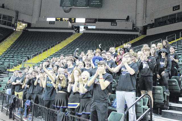 The Clay student section showed up in full force to cheer on their classmates in the Lady Panthers first ever state semifinals appearance.