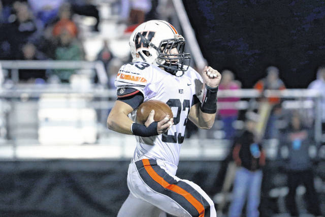 Portsmouth West senior running back Garrett Hurd was named to the first team offense in the Division V southeast district honors this season.