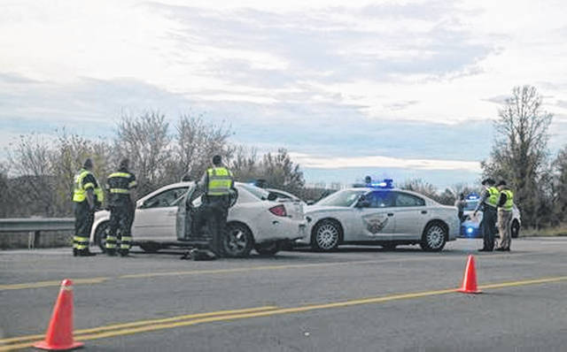 Ohio State Patrol troopers investigated a high speed chase Monday afternoon after the driver, 19 year old Joshua Longworth, of Lucasville, crashed his vehicle into a patrol cruiser on US 23 in Rosemount.