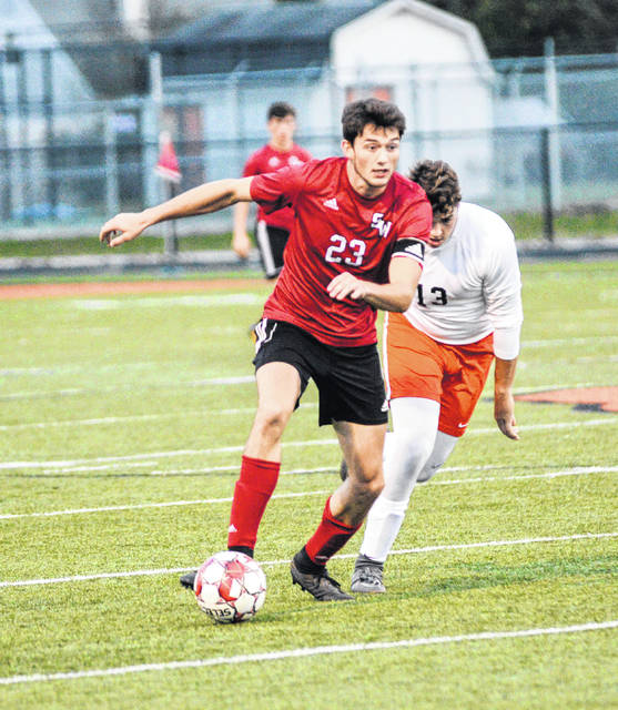 South Webster's Shiloah Blevins was named the SOC I boys' soccer player of the year.