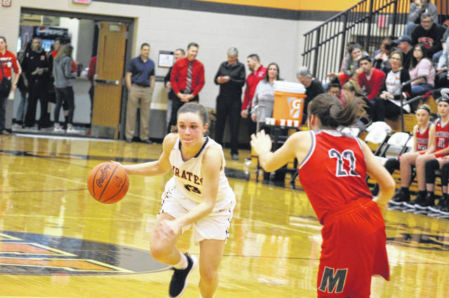 Wheelersburg's Abbie Kallner hit two humongous 3-point field goals late in Monday's contest, but it wasn't enough in a one-point loss to Oak Hill on the road.